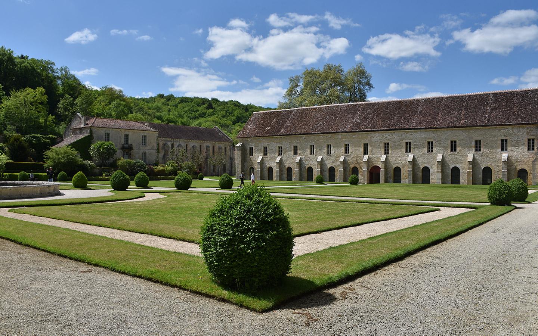 Klostergarten der Abtei Fontenay