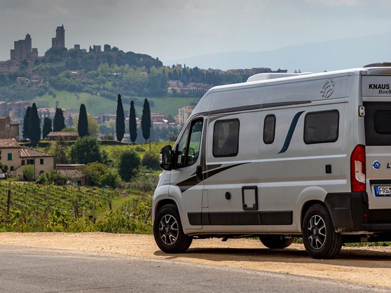 Camping im CUV: Mit dem BOXSTAR in die Toskana