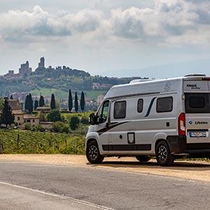 Camping im CUV: Mit dem KNAUS BOXSTAR in die Toskana